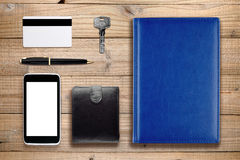 Acessórios e objetos diários Imagem de Stock Royalty Free