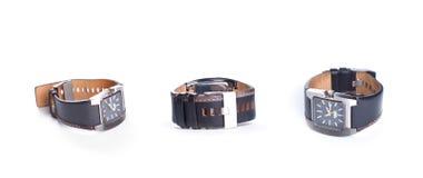 Acessórios marcados à moda do relógio, do luxo e do estilo imagem de stock royalty free