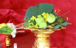 Acessórios na cerimônia ordenada Fotografia de Stock Royalty Free