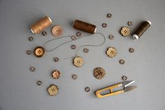 Acessórios para costurar e bordado fotos de stock