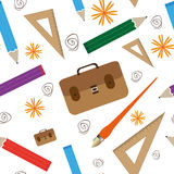 Acessórios para o teste padrão da escola ilustração stock