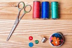 Acessórios para sewing Fotos de Stock