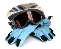 Acessórios para a snowboarding Foto de Stock
