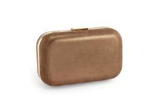 Acessórios, sacos, embreagem do ouro Imagem de Stock