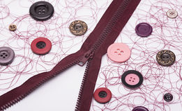 Acessórios Sewing Imagem de Stock Royalty Free