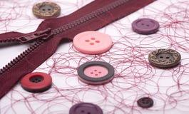 Acessórios Sewing Imagens de Stock Royalty Free