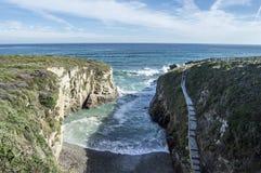 Acesso à praia das catedrais Imagem de Stock Royalty Free