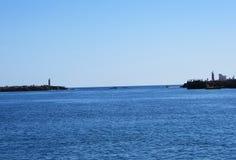 Acesso ao oceano, Faro, Portugal Imagem de Stock