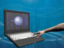 Acesso de Internet, portátil Imagens de Stock