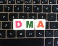 Acesso direto da memória da abreviatura no fundo do teclado imagem de stock royalty free