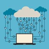 Acesso dos media da nuvem Imagens de Stock