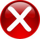 Acesso vermelho tecla negada Imagem de Stock