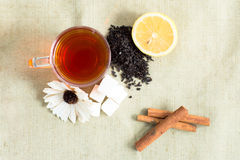 Acessories plats de thé de configuration réglés Photos libres de droits