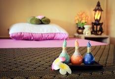 Acessory per la stazione termale ed il massaggio Fotografia Stock Libera da Diritti