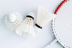Acessórios do badminton Fotografia de Stock Royalty Free