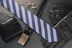 Acessórios do homem de negócio Fotografia de Stock