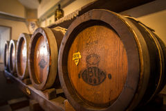 Acetaia - balsamic vinegar of Modena. Barrels in a traditional balsamic vinegar factory near to Modena Royalty Free Stock Photos