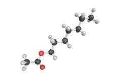 Acetato di Heptyl, utilizzato come condimento dell'essenza di frutta in alimenti ed in a fotografia stock