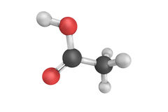 Acetic acid, systematically named ethanoic acid, main component Stock Image