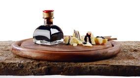 Aceto balsamico e grana Royalty Free Stock Images