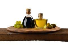Aceto-balsamico e Olio d ` Oliva Lizenzfreie Stockbilder