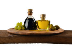 Aceto balsamico e olio d`oliva Royalty Free Stock Images