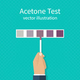 Acetone test. vector Stock Photography