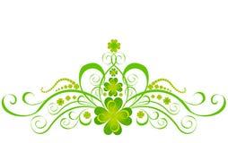 Trifoglio stilizzato illustrazione di stock illustrazione - St patricks giorno fogli di colore giorno ...