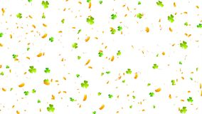 Acetoselle verdi ed animazione arancio del video dei coriandoli archivi video