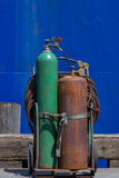 Acetylene tanks Stock Image