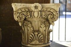 Achado Archaeological Parte superior Capitello de um Etrusc antigo Fotos de Stock