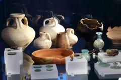Achados arqueológicos das épocas romanas em Roman Museum Xanten Germany fotos de stock royalty free