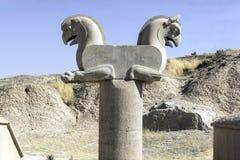 Achaemenid gryf lub Homa, w Persepolis, Iran Fotografia Stock