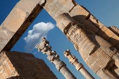 Achaemenid Lamassu, der das Eingangs-Tor aller Nationen in Persepolis schützt Stockfotos