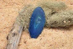Achat auf Strand Stockfoto