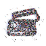 Achat avec carte de crédit de personnes 3d Photographie stock libre de droits