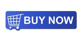achat bleu maintenant Photographie stock libre de droits