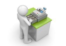 Achat - caissier au travail Image stock