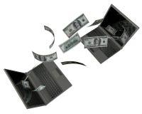 Achat d'argent Photographie stock