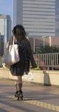 Achat dans une grande ville Image stock