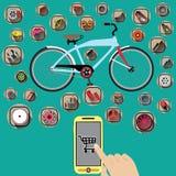 Achat de bicyclette Images libres de droits