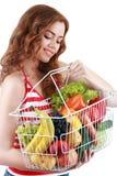 achat de fruits et légumes Photographie stock libre de droits