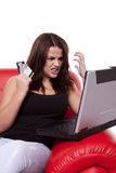 Achat en ligne utilisant le commerce électronique. Photo libre de droits