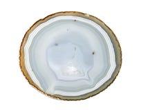 Achat geschnitten auf einen weißen Hintergrund Lizenzfreies Stockfoto