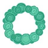 Achat-grünes Steinfeld-runde Vektorillustration Vektor Abbildung