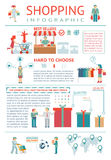 Achat infographic illustration stock