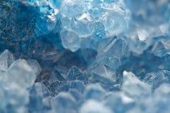 Achat ist eine cryptocrystalline Vielzahl des Kristallquarzes Makro Stockfotografie