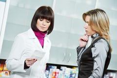 Achat médical de drogue de pharmacie images libres de droits