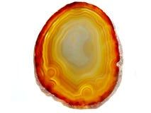 Achat mit geologischem Kristall des Chalcedony Lizenzfreies Stockfoto