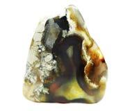 Achat mit geologischem Kristall des Chalcedony Lizenzfreies Stockbild